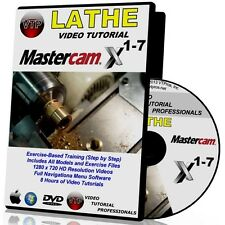 MASTERCAM X1-X7 LATHE Video Tutorial HD FREE SHIP TRAINING COURSES X2 3 4 5 6