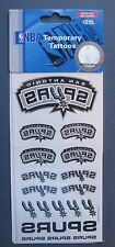 """SAN ANTONIO SPURS TEMPORARY TATTOOS 3"""" x 6"""" SHEET NEW IN PACKAGE NBA LICENSED"""