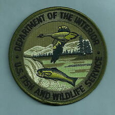DEPARTMENT OF THE INTERIOR U.S. FISH & WILDLIFE SERVICE POLICE PATCH GREEN