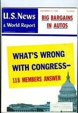 1960 U.S. News & World Report:What's Wrong With Congress? Big Bargains In Autos