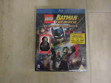 Lego Batman The Movie Blu ray DVD with Exclusive Clark Kent Minifigure New
