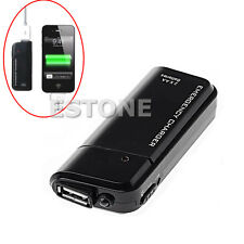 USB Charger AA Battery Emergency With Flashlight For iPhone 4G 3G 3GS ipod Black