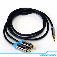 Vention 3.5mm Jack to 2 Male RCA Splitter 1 to 2 - Y Audio Cable Black P550AC 1M