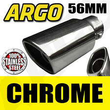 CHROME EXHAUST TAILPIPE TAIL PIPE TRIM END TIP MUFFLER FINISHER COVER SPORT