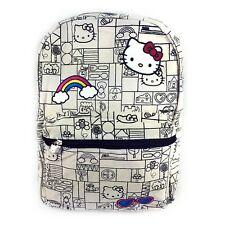 "Sanrio Hello Kitty16"" Large Size School Canvas Backpack"