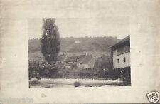 Campagne Rivière Maisons Cascade Paysage - photogravure ancienne