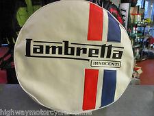 """LAMBRETTA S3 Li TV SX GP ALL MODELS 10"""" SPARE WHEEL COVER  WHITE INNOCENTI"""