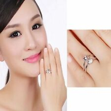 Women Fashion Fox Ring Adjustable Silver Plated Finger Opening Rings