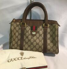 Vintage Gucci Accessory Collection Brown Boston Doctor Satchel Purse w/Dust Bag