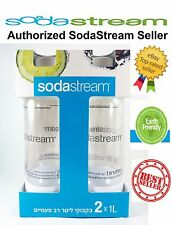 Brand New Sealed Original Sodastream 2X1L Bottles- FREE SHIPPING, Exp - 04/2020