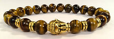 Golden Buddha/Tiger's Eye Beaded Shamballa Stretch Bracelet Men/Women