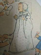 Vintage 1970's Simplicity CHRISTENING GOWN WARDROBE Sewing Pattern Baby Infant
