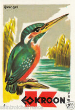 Martin-pêcheur d'Europe Alcedo atthis - Common Kingfisher MATCHBOX LABEL 1973