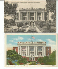 LINCOLN COUNTY NORTH PLATTE, NEBRASKA  - 2 postcards