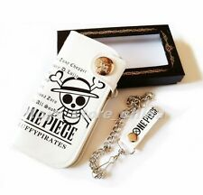 Anime One Piece POP Luffy Skull Sign PU Long Wallet Unisex Toy White New In Box