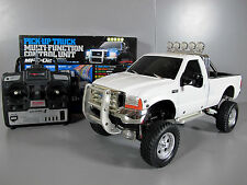1/10 RC Tamiya White Ford F-350 High Lift w/ MFC-02 light sound unit Futaba