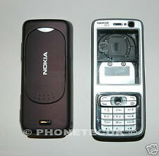 Genuine Graded Nokia N73 Silver & Plum Fascia Housing Keypad & Battery Cover