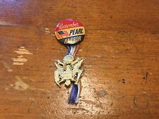 VINTAGE PEARL HARBOUR BADGE AND MEDAL WITH RIBBON RARE ITEM