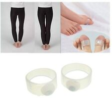 2 Pcs Magnetic Silicon Massage Toe Ring Slimming Loss Weight Massager Slim