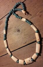 """Antique Hippo Tooth Arca Shell Trade Bead African Necklace 34"""""""