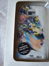 White Diamonds Sash Case for Samsung Galaxy S2 - white colourful headHama 108687