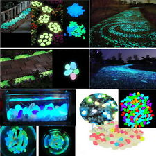 100g Mixed Color Glow in The Dark Stones Pebbles Rock FISH TANK AQUARIUM Fashion