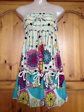 ❤️ Womens Pepper Tree Strapless bubble Hem Floral Dress Size Small 8 ❤️