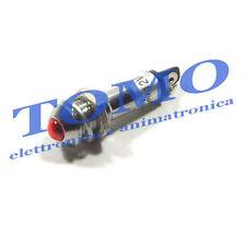 Spia LED 12VDC da pannello convessa colore Rosso code OA002