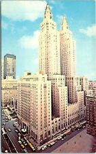 New York City Postcard WALDORF-ASTORIA Hotel, Street Scene c1960s Chrome Unused