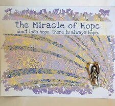 MIRACLE OF HOPE GREETING CARDS WITH POCKET CHARMS BLANK INSIDE... INSPIRATIONAL