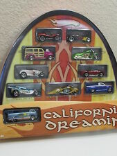 HOT WHEELS CALIFORNIA DREAMIN TARGET EXCLUSIVE 10 CAR PACK VW DRAG TRUCK