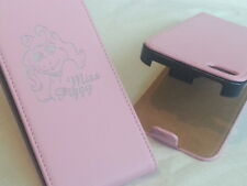 IPhone 4 4S Miss Piggy VERA PELLE ROSA flip Phone Cover cinque Apple MAIALE