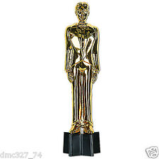HOLLYWOOD Movie Night Awards Party Decoration Prop GOLD MALE STATUETTE 9in