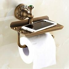 Rozin Wall Mounted Multifunctional Toilet Paper Holder Antique Brass