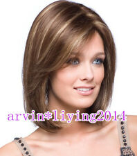New sexy Women's ladies short Mix Natural Hair full wigs  + wig cap
