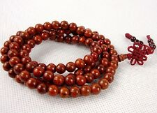 7mm Tibet Buddhism 108 Red Bodhi seed Mala Necklace