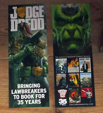 Judge Dredd 2000AD 35th anniversary promotional bookmark, new