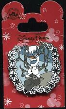 Sven and Olaf Snowflakes Holiday Frozen Jeweled Disney Pin 111814