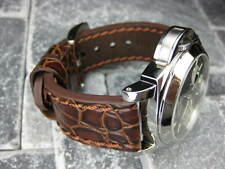 NEW BREITLING BIG GATOR 20mm Brown LEATHER STRAP Watch Band 20 mm