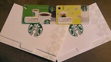 $3 Start STARBUCKS Japan Limted Mini Green & Yellow Gift Cards w/Sleeves From US