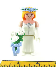 PLAYMOBIL~Dollhouse~Lady~Princess~Bride~Victorian~Headband~Bouquet~White Rose~3