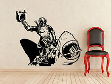 Deadpool Shark Wall Decal Superhero Vinyl Sticker Home Kids Art Decor Mural 298z