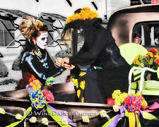 Day of the Dead, Las Catrinas, Old Pickup, Fine Art Photo, 11 x 14 Matted Photo