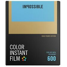 IMPOSSIBLE Color Instant Film for Polaroid 600  - GOLD FRAME EDITION - 2 PACK