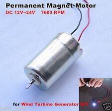 12V- 24V Epson Mini DC Motor Permanent Magnet Generator Wind Turbine Power Motor