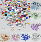 1000pcs Facets Resin Rhinestone Gem Flat Back Crystal AB Beads 2mm 10Colors DIY