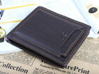 Brown Stylish Men's Leather Wallet Pocket Card holder Clutch Bifold money Purse