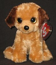 TY HOUSTON the DOG BEANIE BABY - (NEW VERSION) - MINT with MINT TAGS