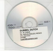 (DV520) Dubbel Dutch, B Leave - DJ CD