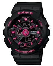 Casio Baby-G * BA111-1A Anadigi Black with Neon Pink Watch for Women COD PayPal